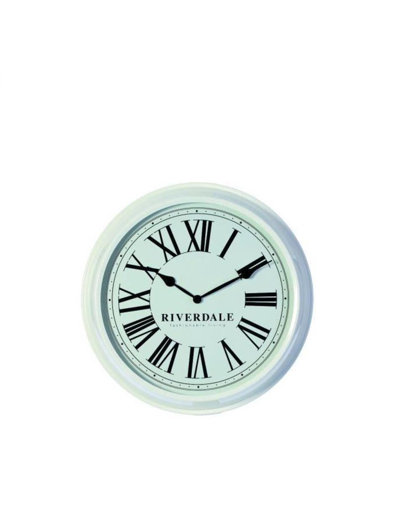 Riverdale WANDKLOK TIME. 52CM WIT