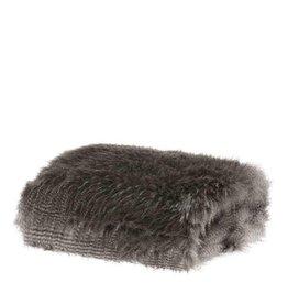 Riverdale Plaid Furry grijs 120x150cm