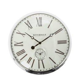 Riverdale Wandklok London zilver 50cm