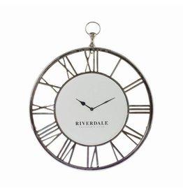 Riverdale Wandklok Luton silver 50cm
