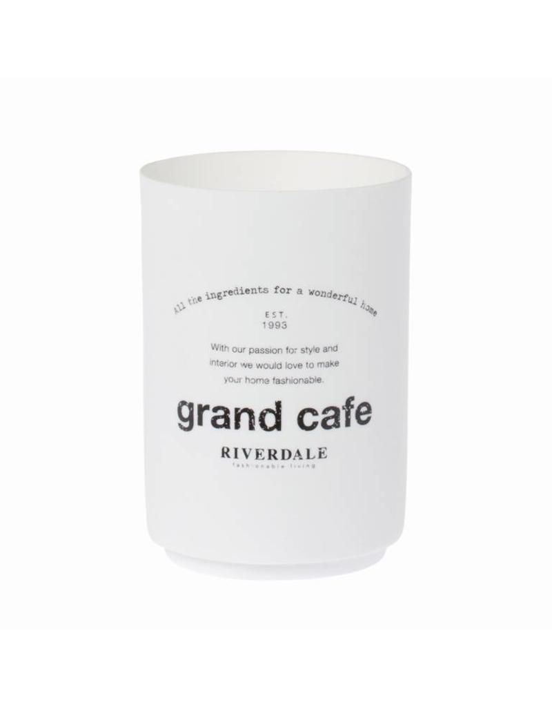 Riverdale SFEERLICHT GRAND CAFE 11CM WIT
