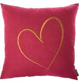 Riverdale Kussen Heart burgundy 45x45cm