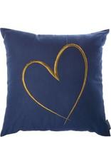 Riverdale Kussen Heart d.blauw 45x45cm