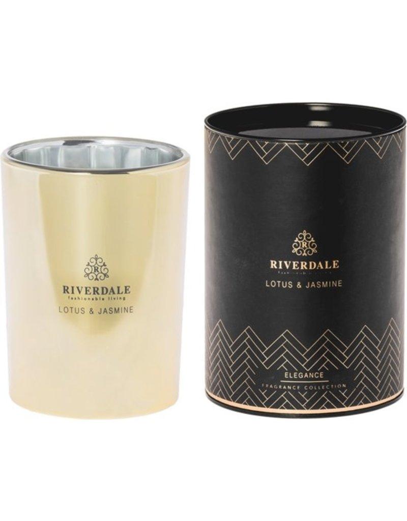 Riverdale Geurkaars Elegance goud 15cm