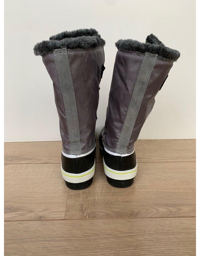 Snowboots dames hoog grijs