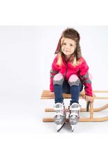 Nijdam 3020 Junior Kunstschaats - Verstelbaar - Hardboot - Grijs/Roze