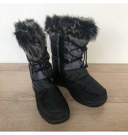 Snowboots grijs/zwart met bontrand