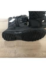 Snowboots zwart met bontrand