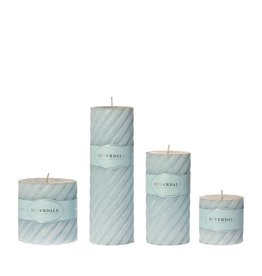 Riverdale Candle Swirl light blue 7.5x7.5cm