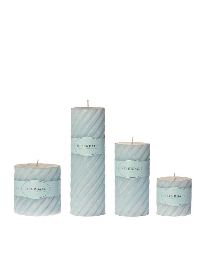 Riverdale Candle Swirl light blue 7.5x15cm