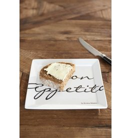 Riviera Maison Buon Appetito Square Plate 18x18