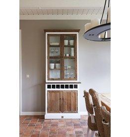 Riviera Maison Driftwood Cabinet w winerack Sgl
