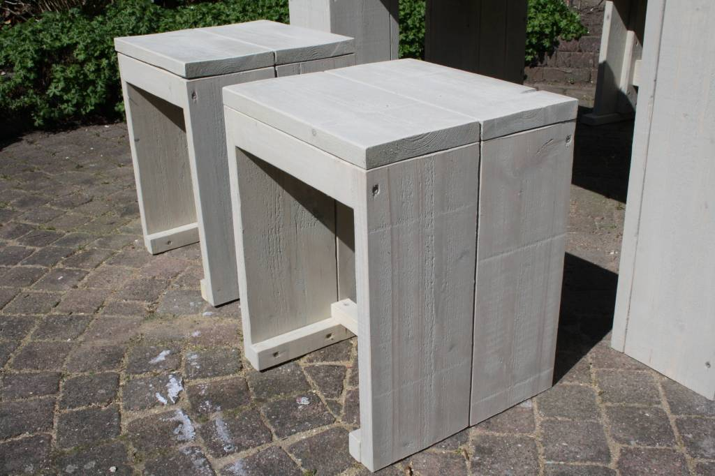 Tuinset van steigerhout in grey wash