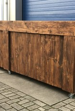 Maasdijk  Verrijdbare Bar / Balie / Toonbank van steigerhout