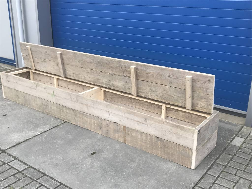 Rosario Dekenkist / Opbergkist van oud steigerhout