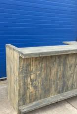 Marty Bar / Balie / Toonbank van steigerhout: Model Marty
