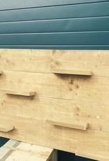 Wandbord van oud steigerhout