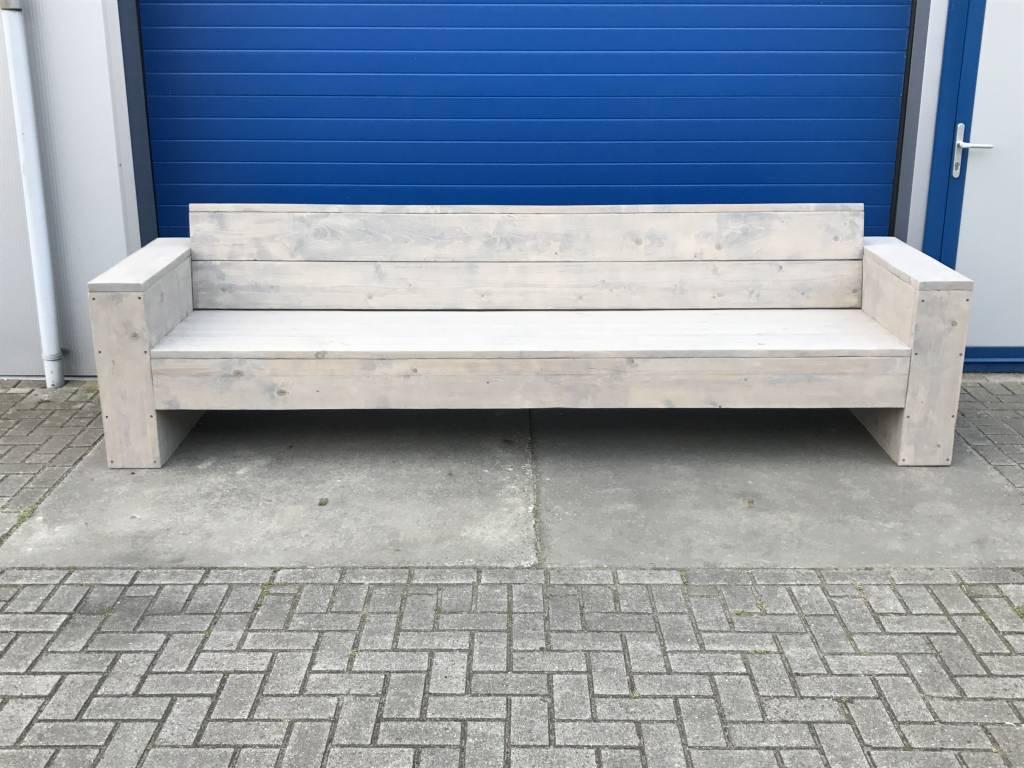 Johan Loungebank XL van steigerhout: Model Johan