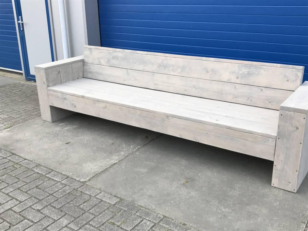 Johan Loungebank XL van steigerhout