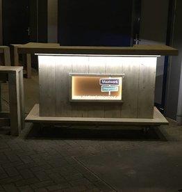 Leonard Bar op wieltjes  met LED