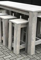 Barkruk van steigerhout in verschillende hoogtes - Copy