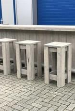 Verrijdbare Bar / Balie / Toonbank  van steigerhout met een waterproof LED verlichting