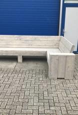 Mark Maatwerk Hoekbank van steigerhout
