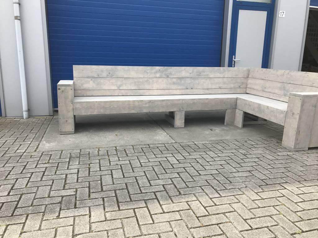 Ezra Maatwerk Hoekbank van steigerhout
