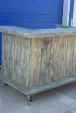 Londen Verrijdbare Bar/ Balie / Toonbank van steigerhout