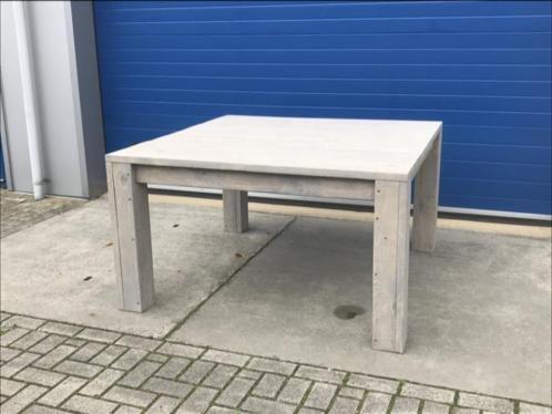 Vierkante Eettafel Van Steigerhout.Eetafels Tuintafels