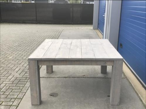 Jaap Kees Vierkante Eettafel / Stamtafel van steigerhout
