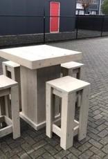Vriezenveen Bartafel Set (Tafel en 4 krukken): Model Vriezenveen