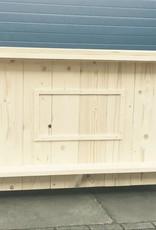Leonard Bar / Balie / Toonbank van steigerhout verrijdbaar