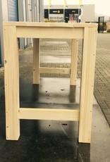 Bartafel van steigerhout zonder middenbalk