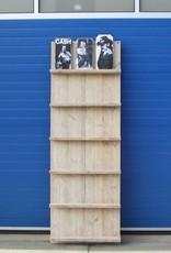 Wandbord / Lectuurrek van oud steigerhout: model Terry
