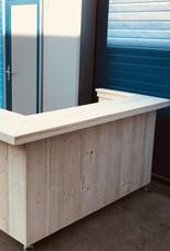 Delta Plus Verrijdbare Balie / Toonbank van steigerhout : Model Delta Plus.