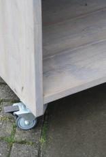 Verrijdbare Toog /  Tapkast van steigerhout