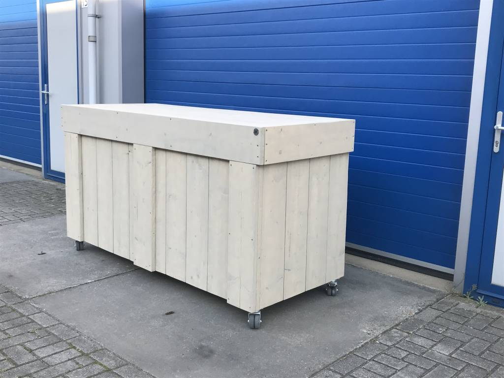 Verrijdbare Bar / Balie / Toog van steigerhout  - Copy