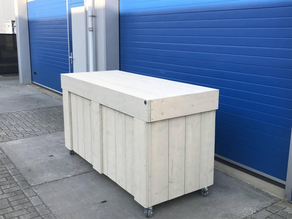 Maasdijk  Verrijdbare Bar / Balie / Toog van steigerhout  - Copy