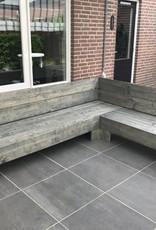 Edine Hoekbank van steigerhout: Model Edine