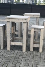 de meiden Bartafel van steigerhout: Model de meiden