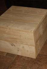 Granada Hocker van steigerhout in Antraciet wash