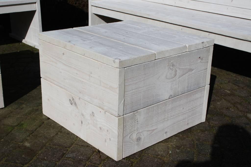 Granada Hocker van steigerhout: model Granada