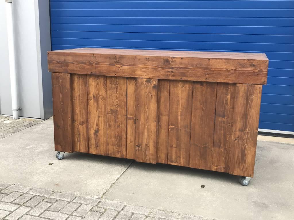 Verrijdbare Toog /  Tapkast / Toonbank van Stiegerhout