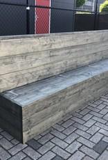 Klepbank van steigerhout met opbergruimte