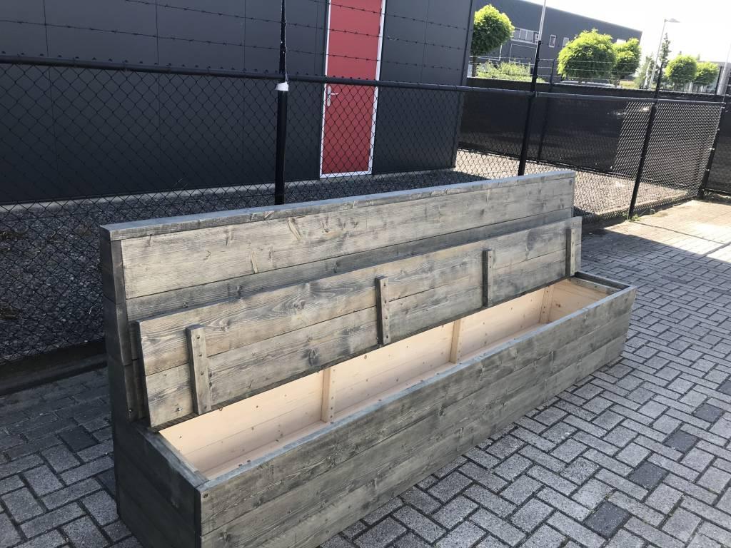 Jeroen Klepbank van steigerhout met opbergruimte