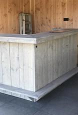 Midwolde  Bar/ Balie van steigerhout met kastje onder werkplank: Model Midwolde