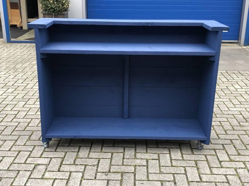 Blues Verrijdbare Bar / Toog / Toonbank van steigerhout in diverse kleuren : Model Blues