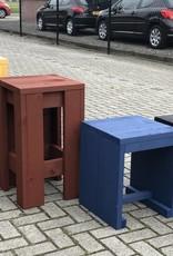 Verrijdbare Bar / Toog / Toonbank van steigerhout in diverse kleuren