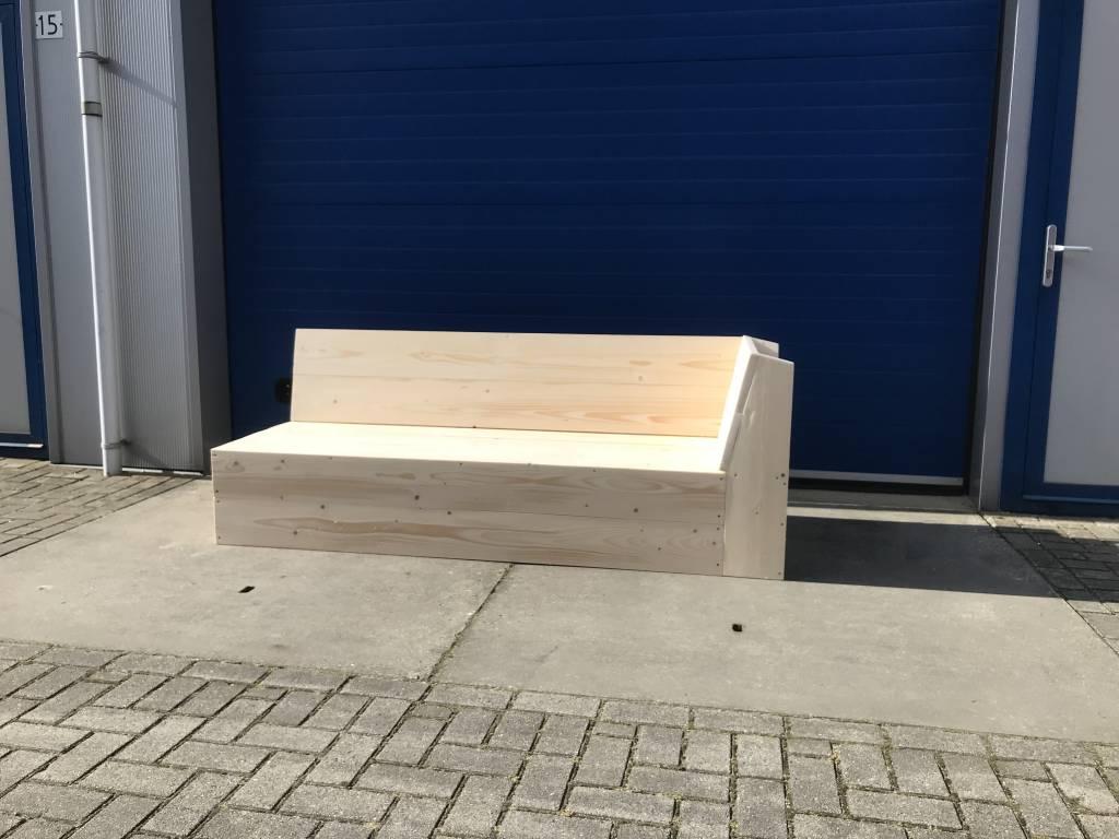 Loungebank met leuning aan 1 kant